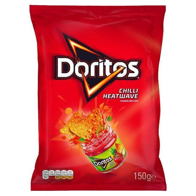 Doritos Tortilla Chips - Chilli Heatwave, 150g
