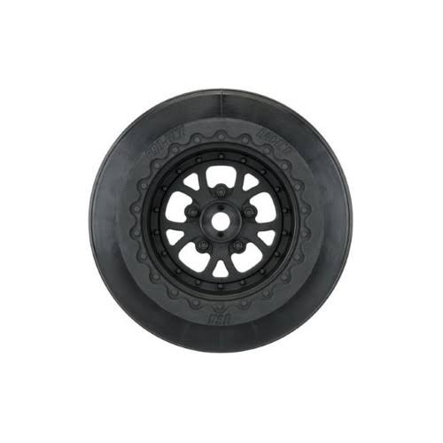 Proline Racing Pomona Drag SPEC 2.2/3.0 Black Wheels (2) for Slash 2WD