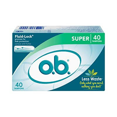 (3 Boxes) O.b. Super Fluid-lock Tampons - Super Absorbency, 40ct