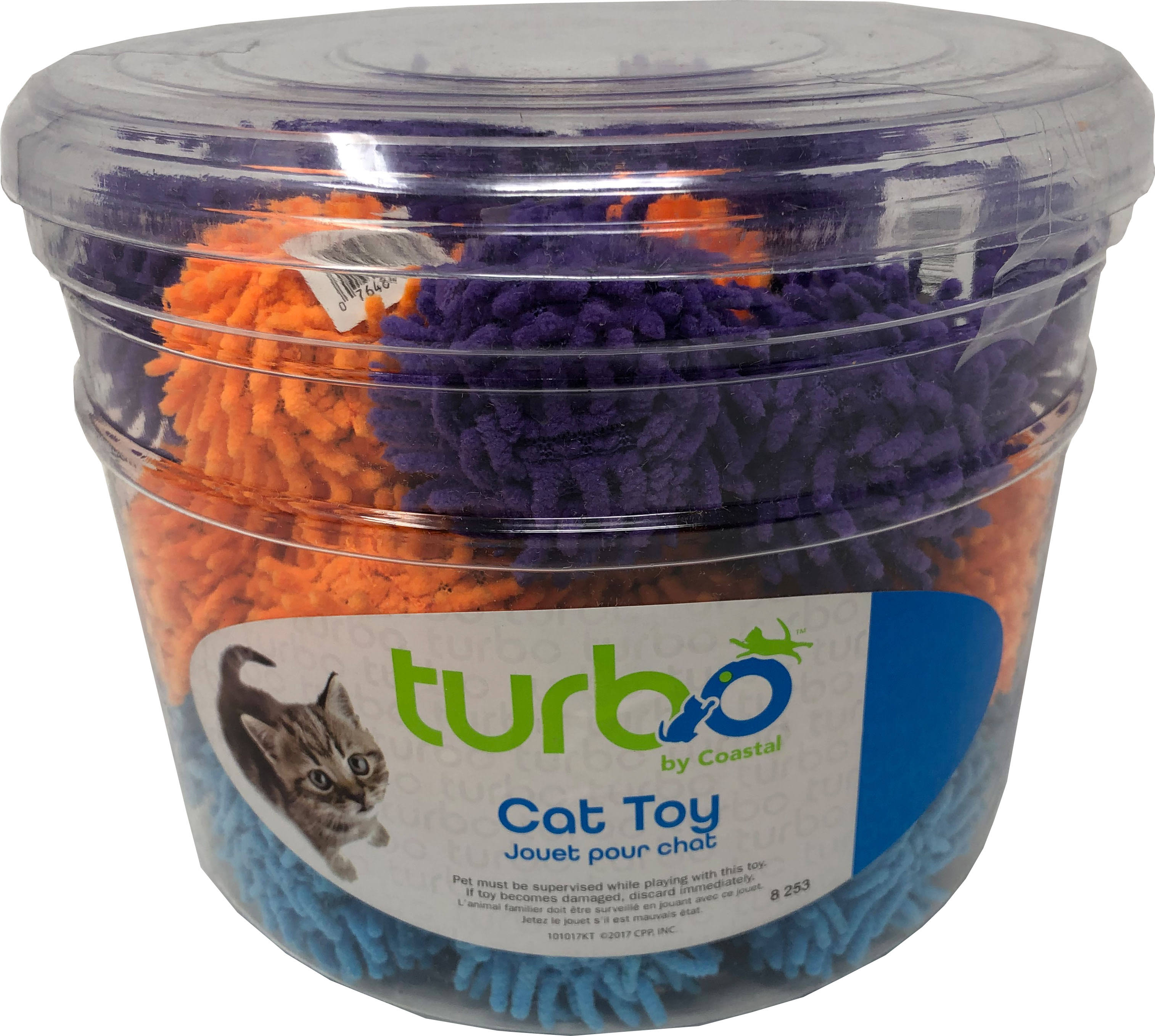 Coastal Pet Products 80533 NCLCAT Turbo Mop Balls Cat Toy Canister - Multicolor 36 Piece - Pack of 8