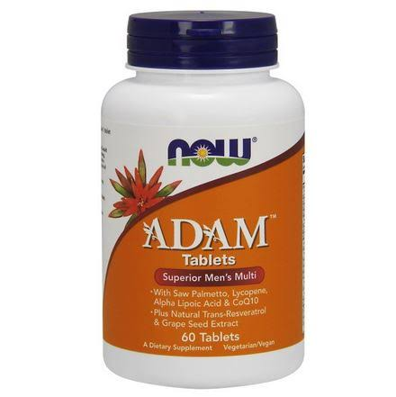 NOW Foods Adam Superior Men's Multivitamin - 60 Tablets
