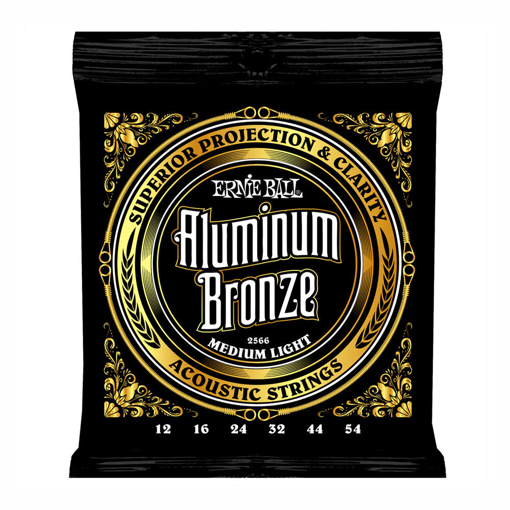 Ernie Ball 2566 Aluminum Bronze Medium-Light Acoustic Guitar Strings