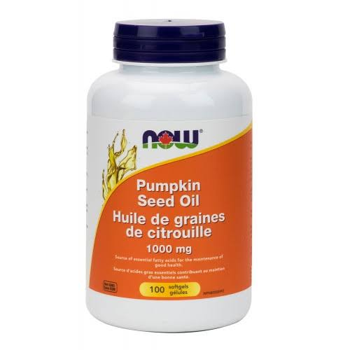 Now Pumpkin Seed Oil Supplement - 100 Softgels