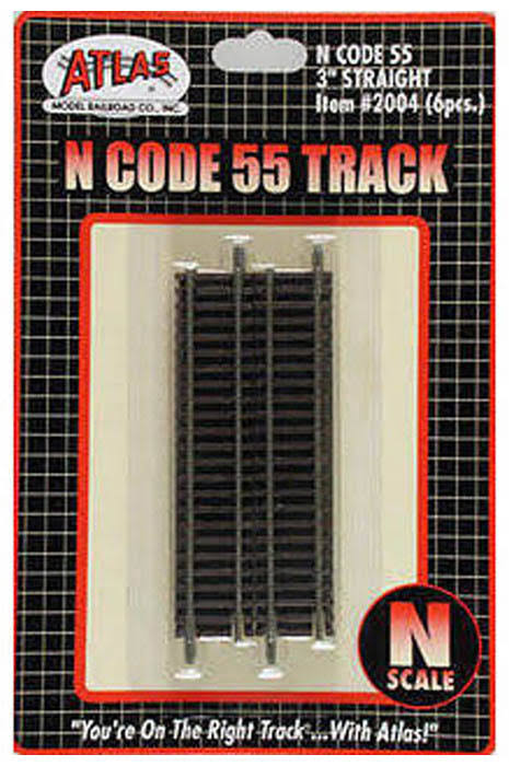 Atlas N Scale Code 55 Straight Track - 3""