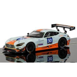 Scalextric Slot Car C3853 Mercedes AMG GT3 Gulf -