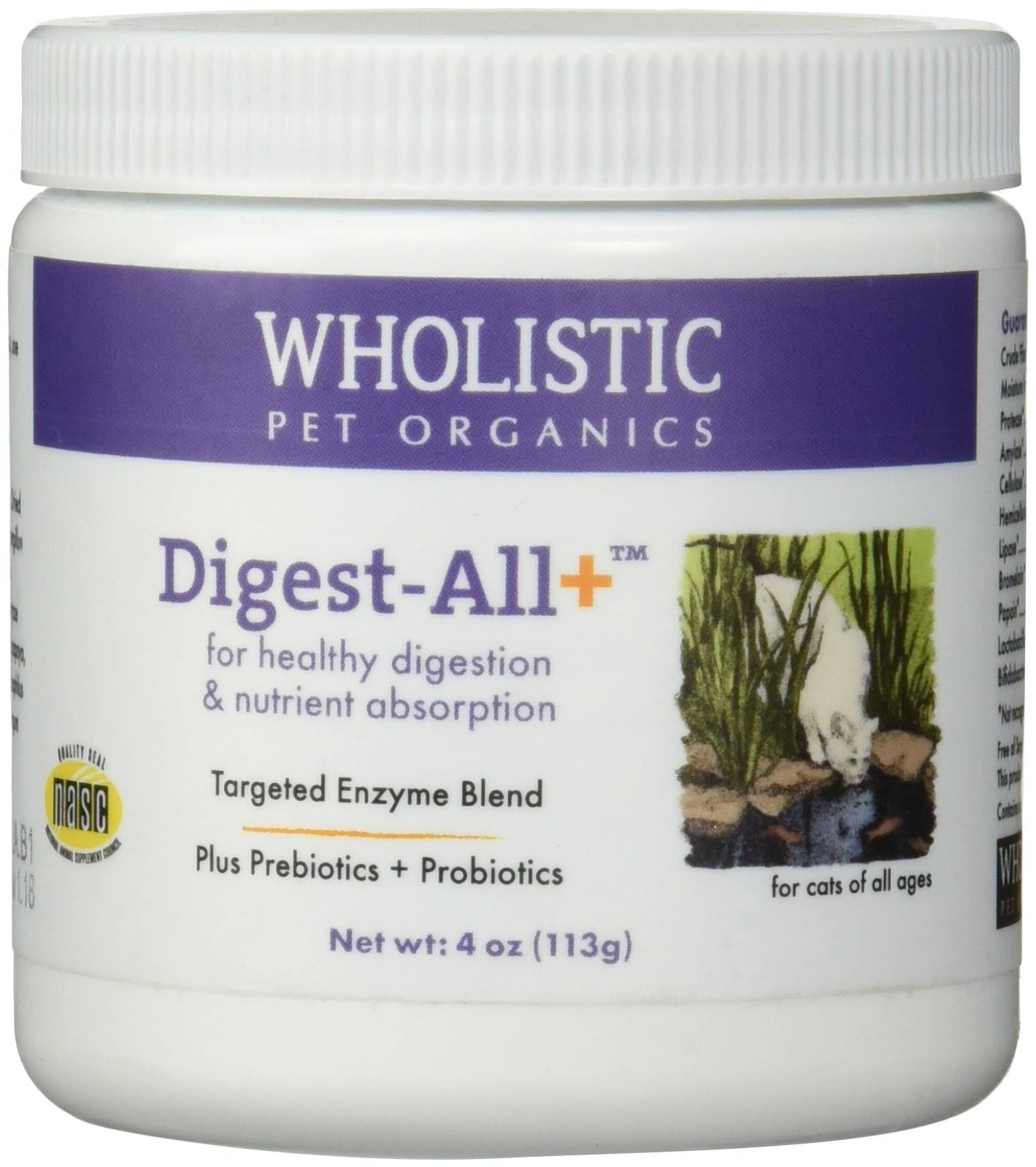 Wholistic Pet Organics Feline Digest-All Plus Supplement - 4oz