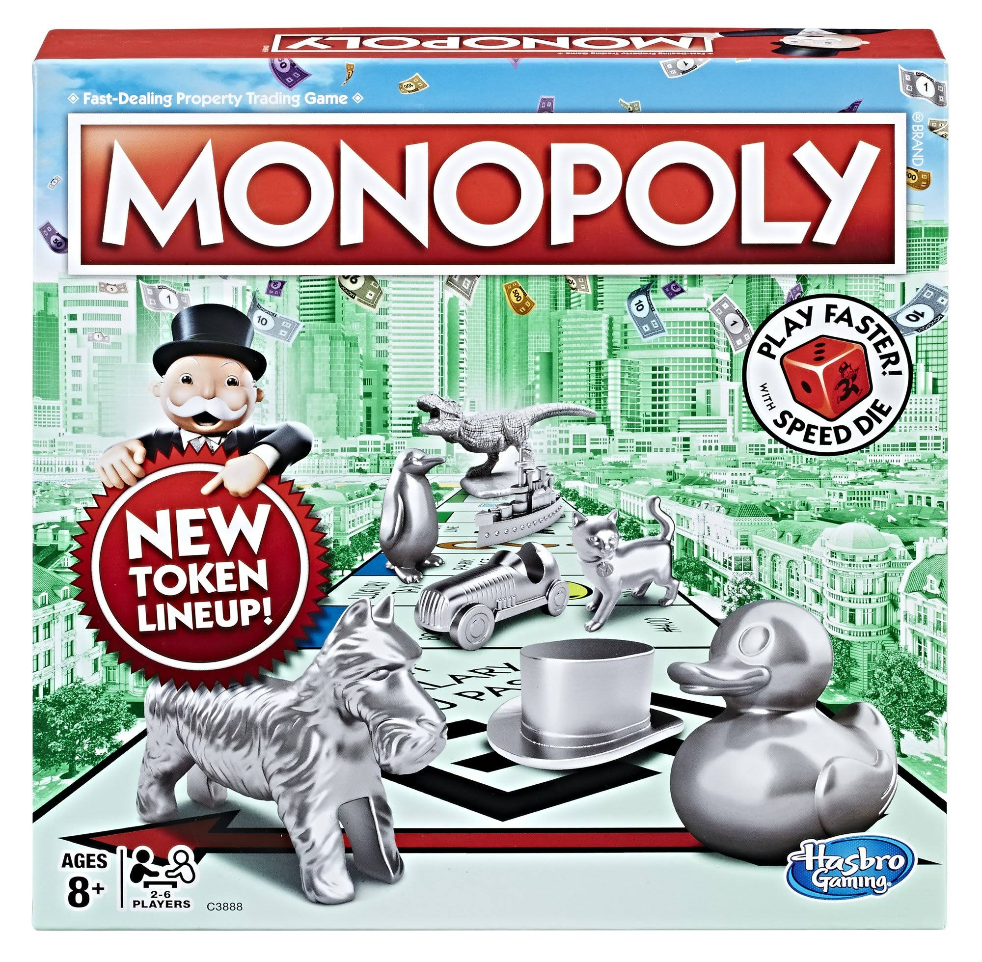 Hasbro Monopoly Speed Die Edition Board Games Set