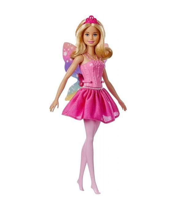 Barbie Dreamtopia Fairy Winged Doll - Blonde Hair, Pink Dress