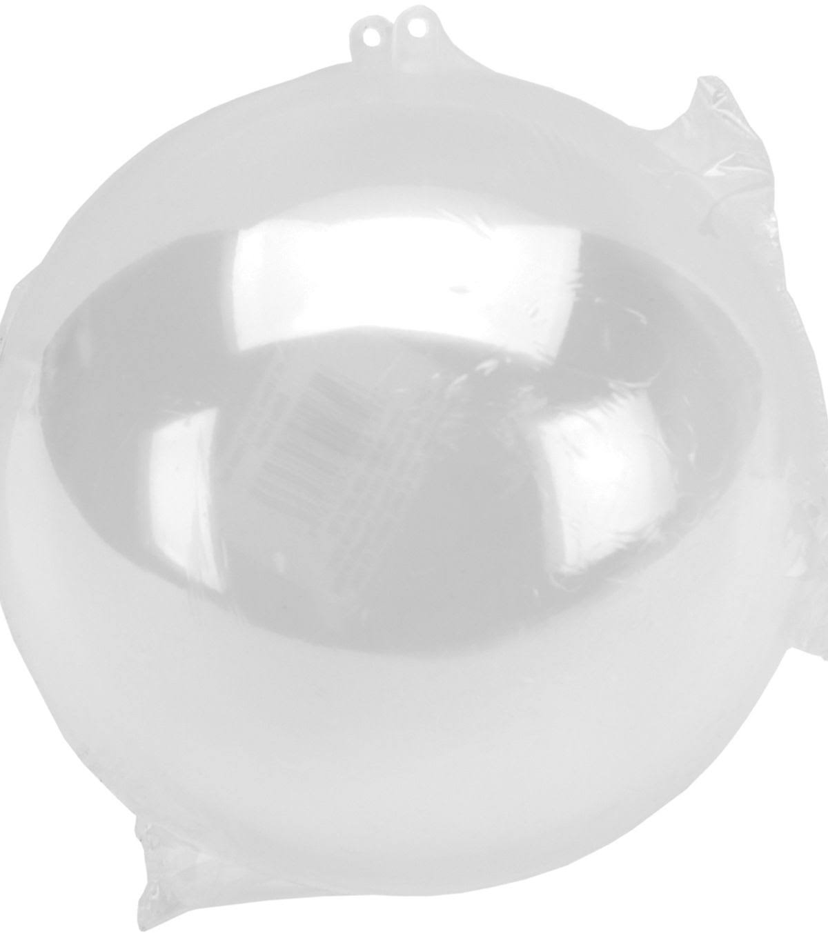 Darice Plastic Hanging Ball Ornament - 140mm, Clear