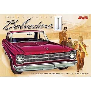 Moebius 1218 1965 Plymouth Belvedere Car Plastic Model Kit - 1:25 Scale