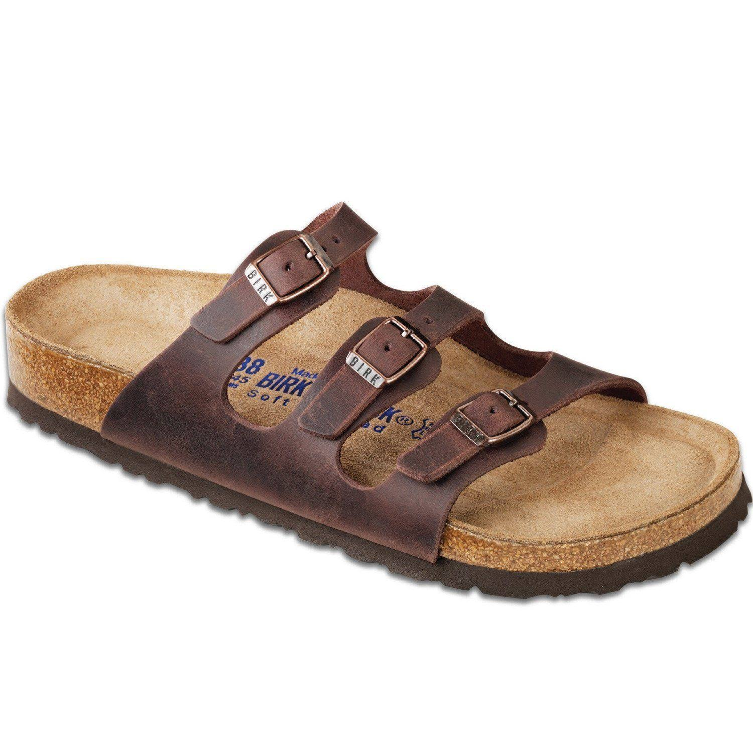 Birkenstock Women's Florida Soft Footbed Sandal - Brown, 7 US