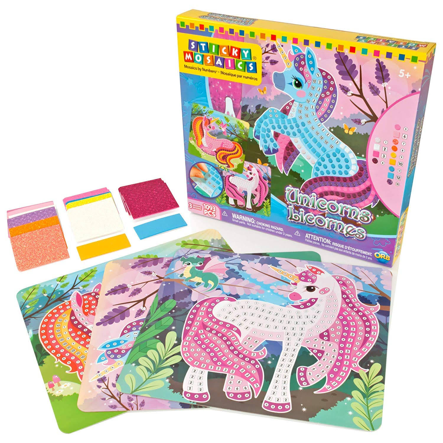 Sticky Mosaics Unicorns Craft Kit