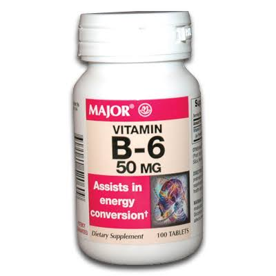 Major Vitamin B-6 Supplement - 50mg, 100 Tablets