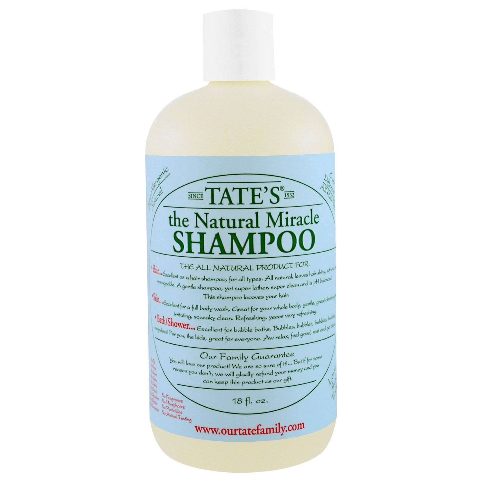 Tate's The Natural Miracle Shampoo - 530ml
