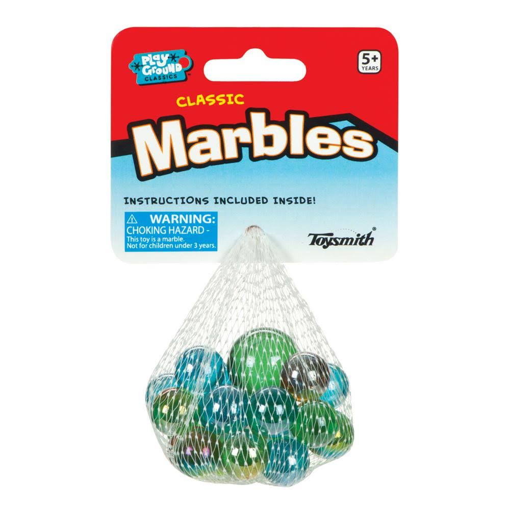 Toysmith Classic Glass Marbles - 24 Marbles