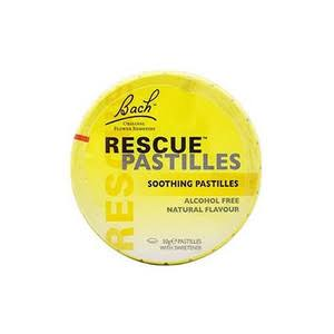 Bach Rescue Soothing Pastilles - Orange and Elderflower Flavour, 50g