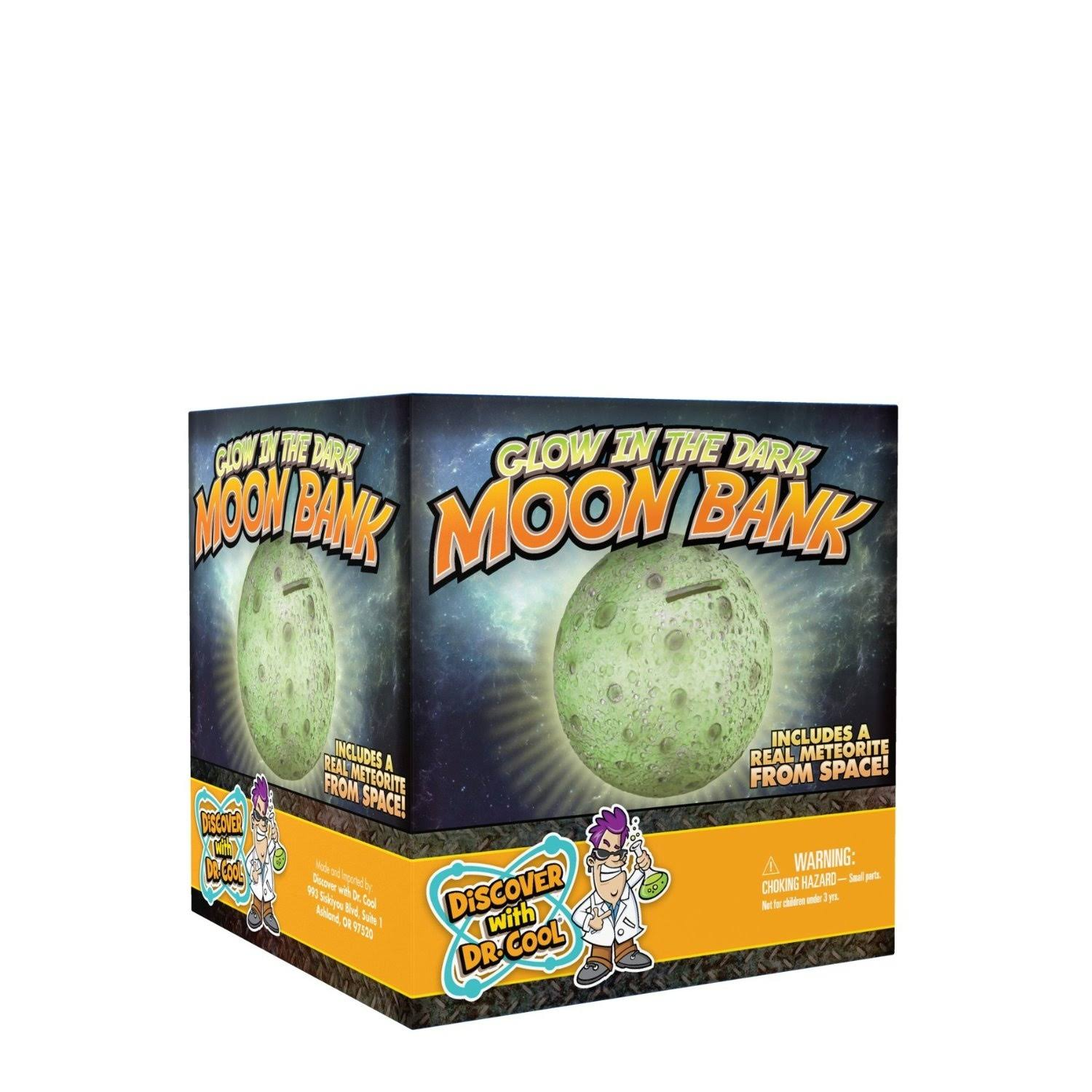 Discover with Dr. Cool Glow in the Dark Moon Coin Bank