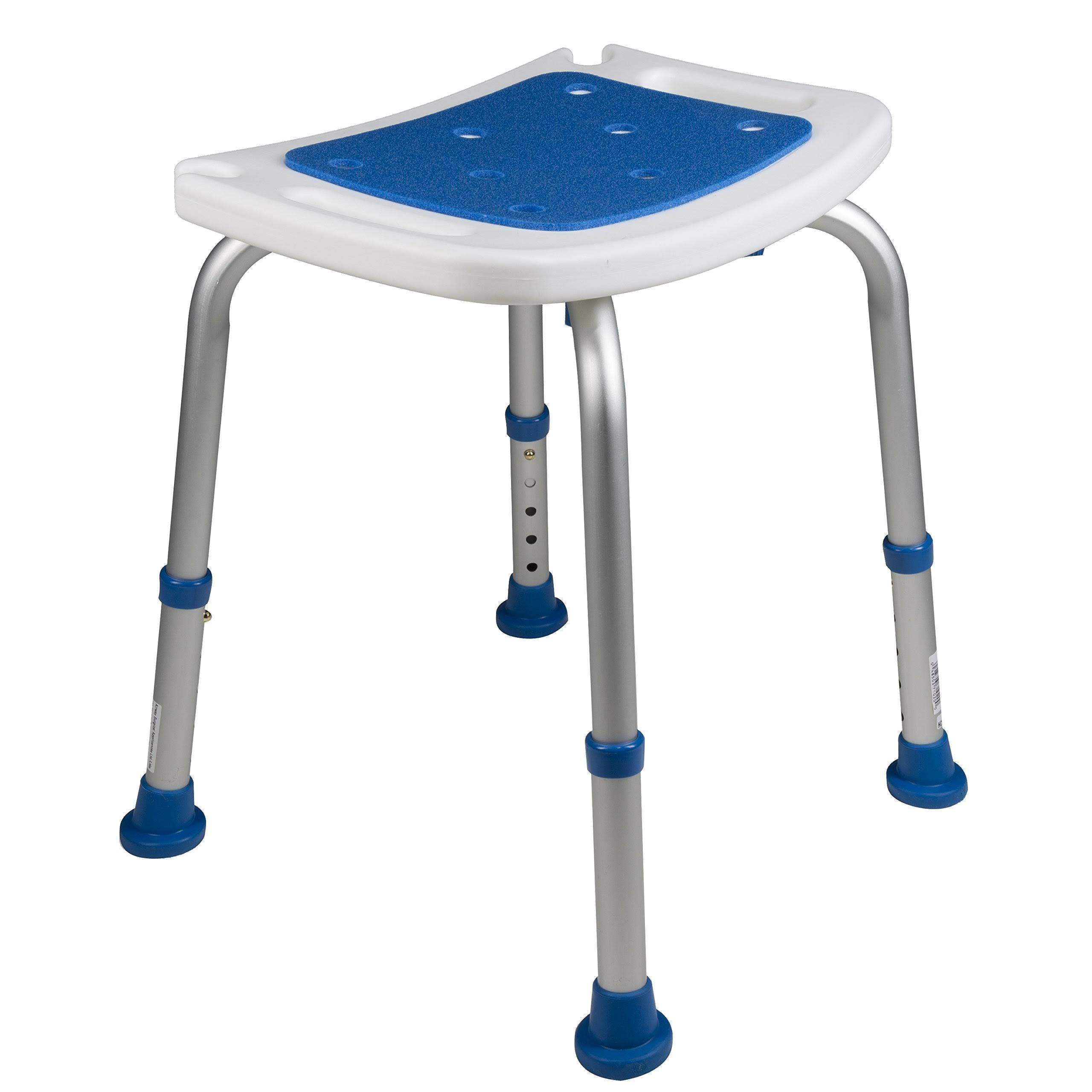 PCP Padded Bath Safety Seat - White and Blue