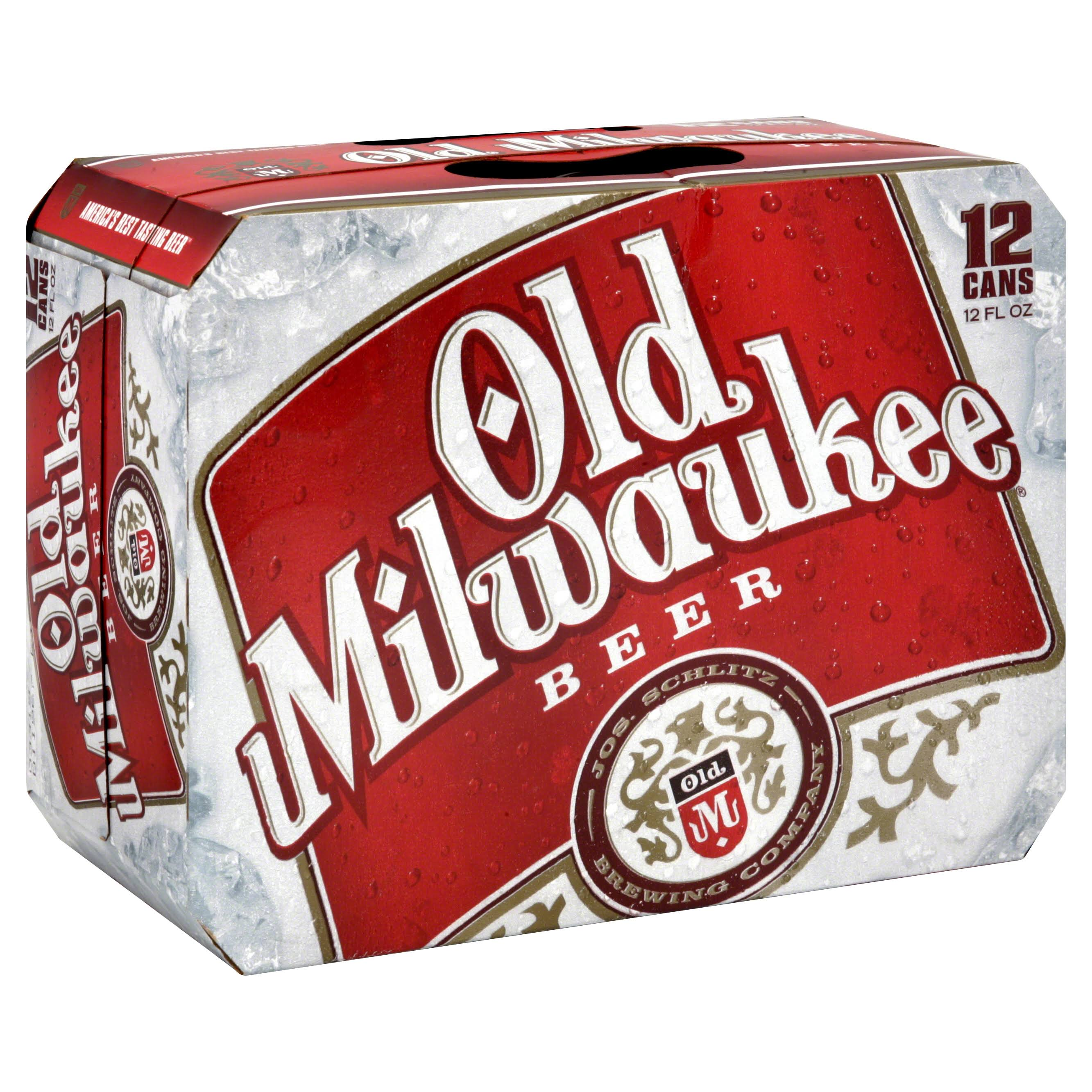 Old Milwaukee Beer - 12 Cans