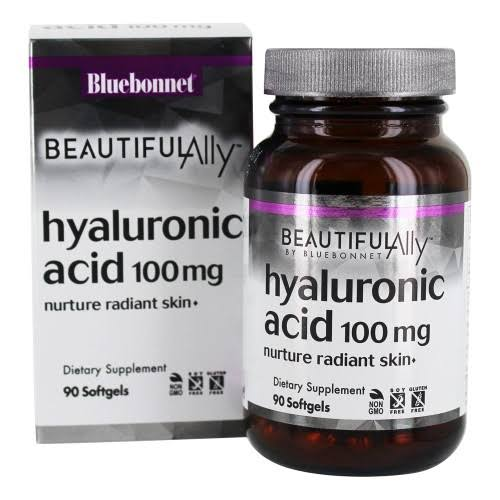 Bluebonnet Beautiful Ally Hyaluronic Acid, 100 mg, Softgels - 90 softgels