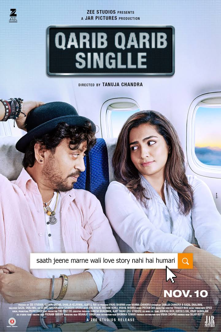Qarib Qarib Singlle 2017 Full Movie Download DVDRip 480p 500MB And 720p 998MB High Speed Google Drive Link