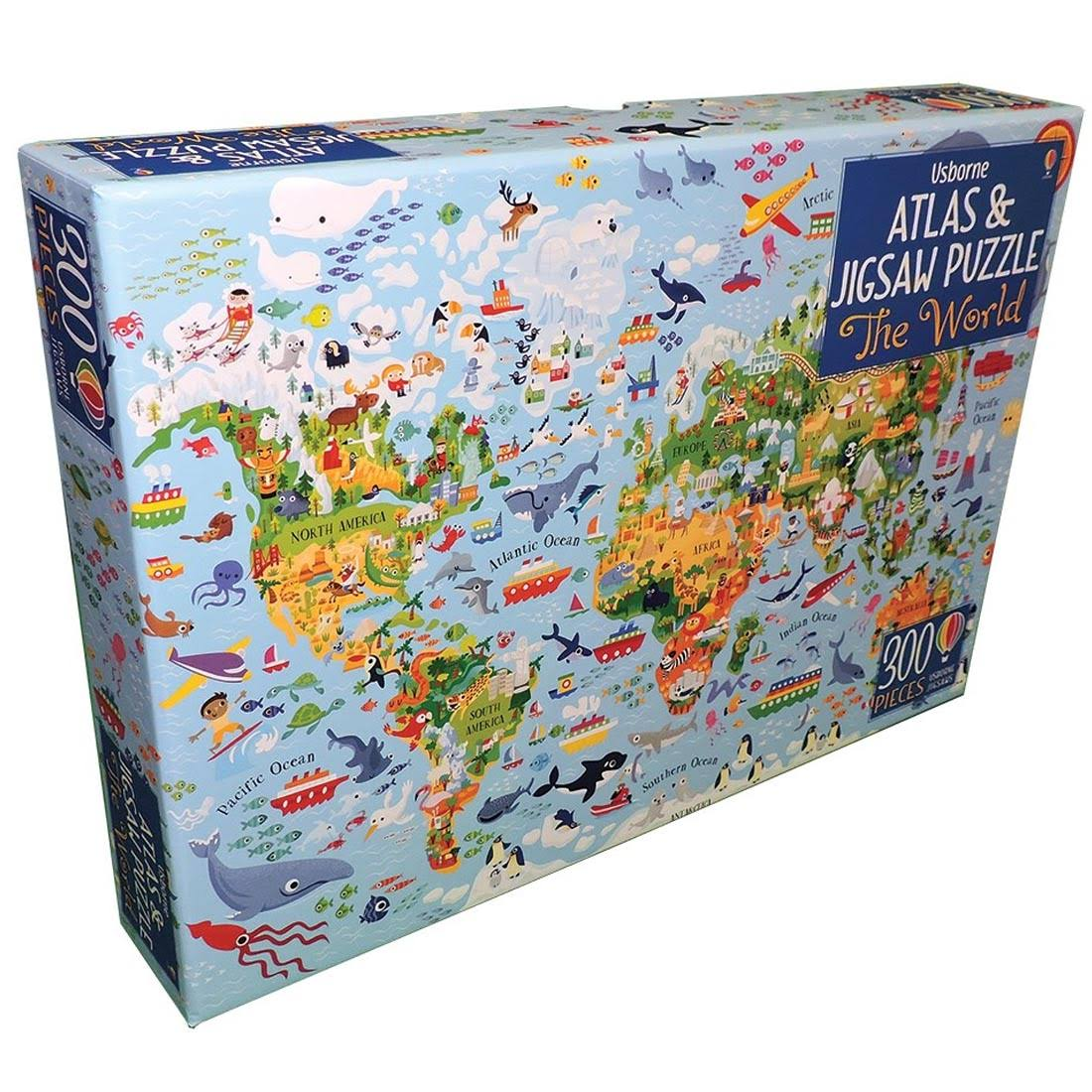 Atlas and Jigsaw Puzzle - the World Map of the World Jigsaw