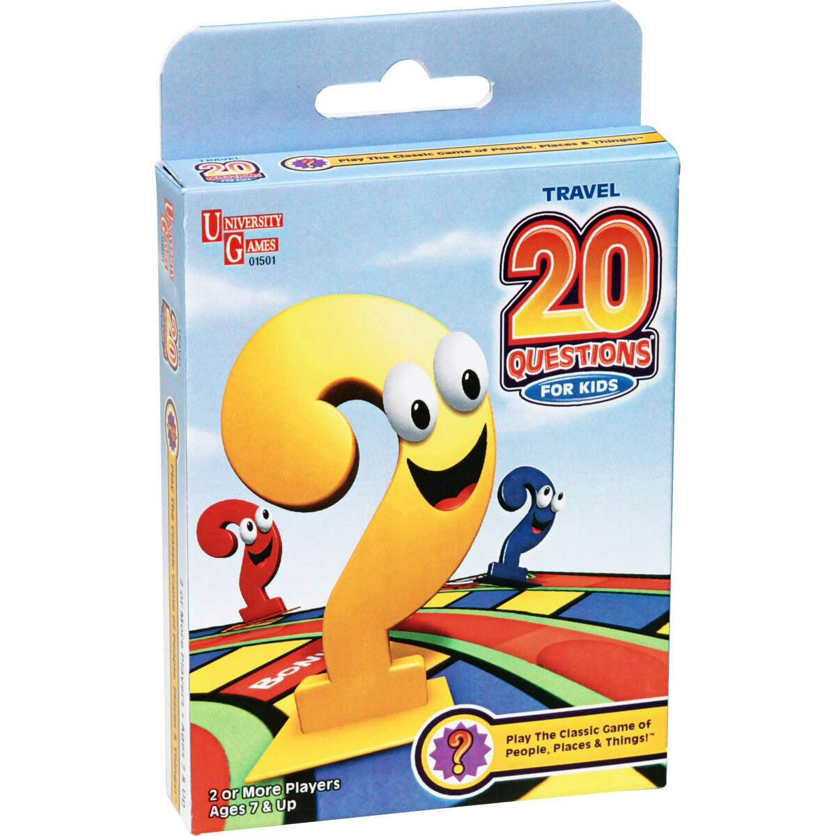 University Games Travel 20 Questions for Kids Card Game