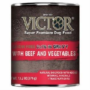 Victor Grain Free Canned Dog Food - Cuts In Gravy with Beef and Vegetables, 13.2oz