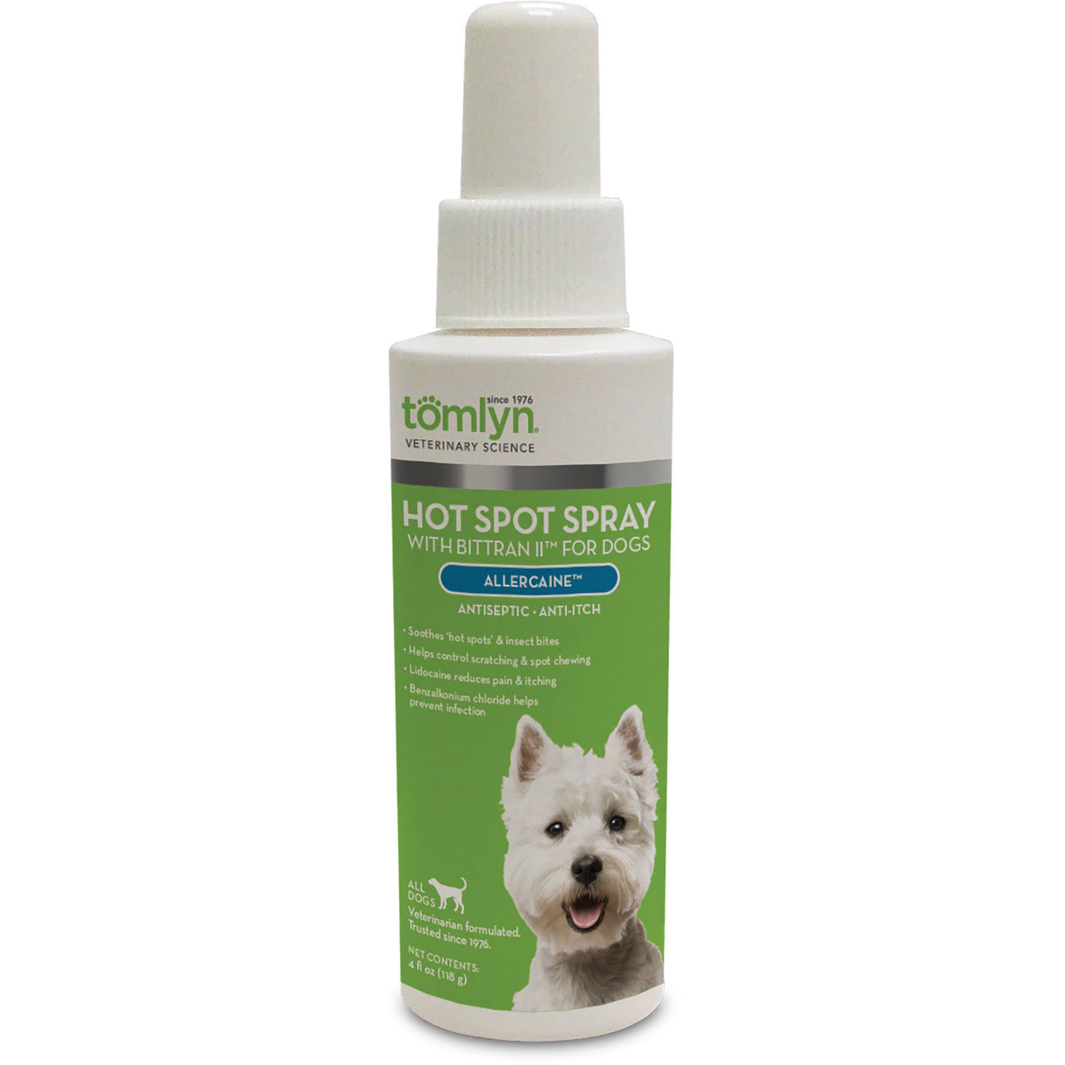 Tomlyn Allercaine Dogs Hot Spot Spray - 12oz