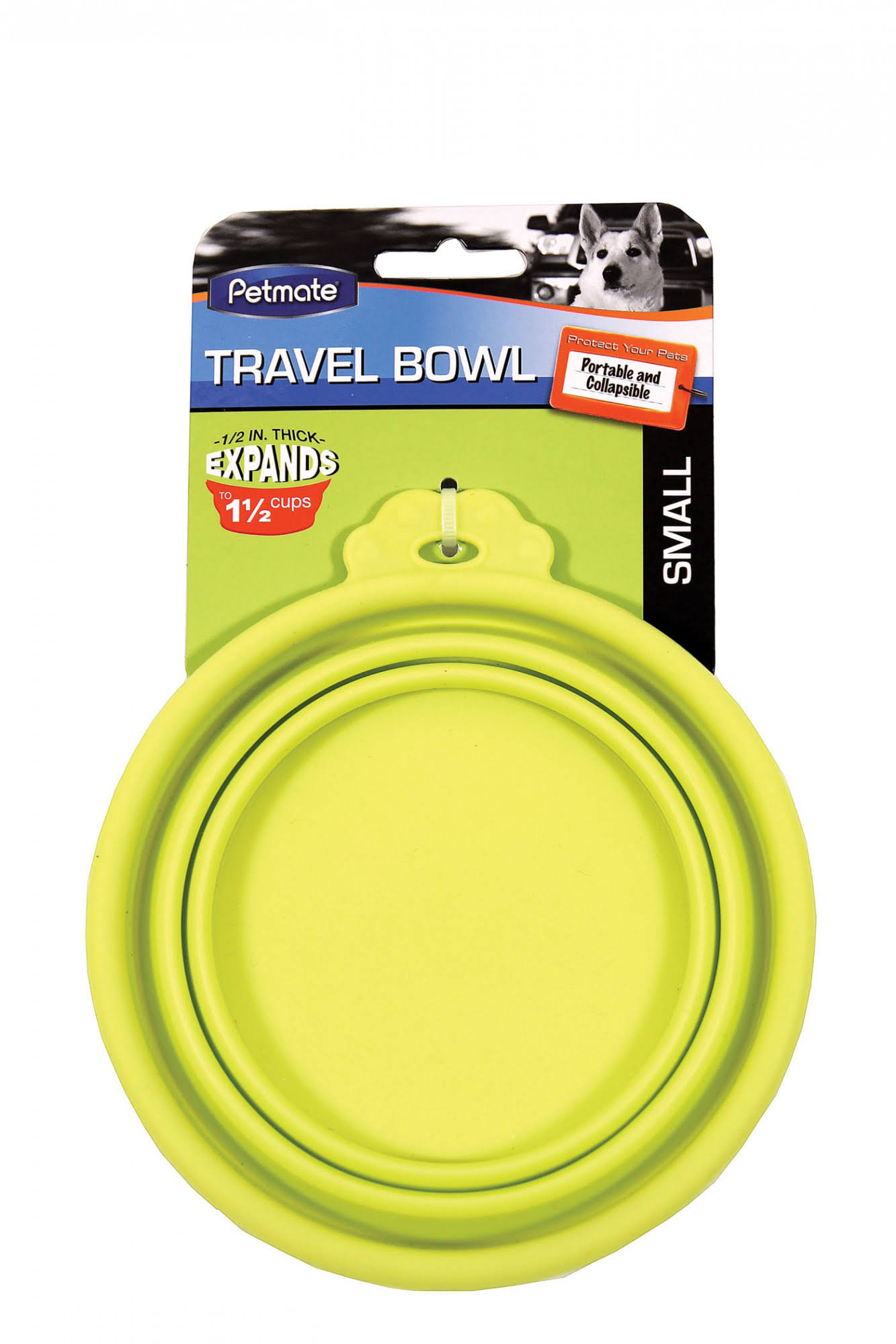 Petmate Travel Bowl for Dogs and Cats - Green, Small