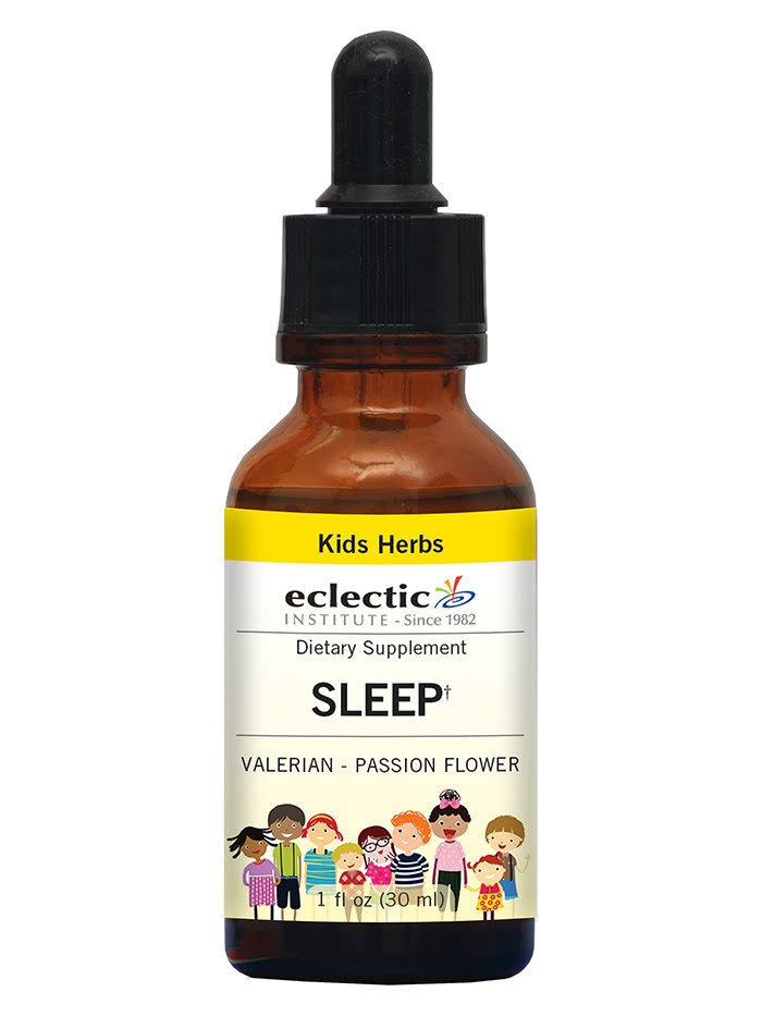 Eclectic Institute, Herbs for Kids, Valerian Passion Flower, 1 fl oz (30 ml)