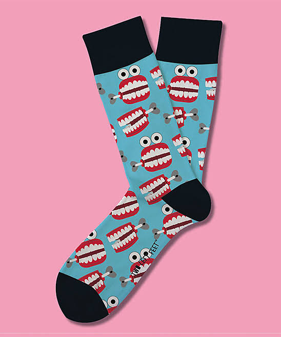 Two Left Feet Chatterbox Everyday Socks Big Feet