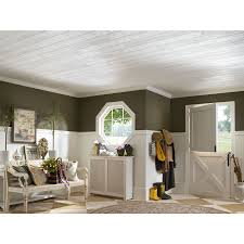 Armstrong Woodhaven Ceiling Planks by Shop Armstrong Homestyle 20 Pack White Faux Wood Surface Mount