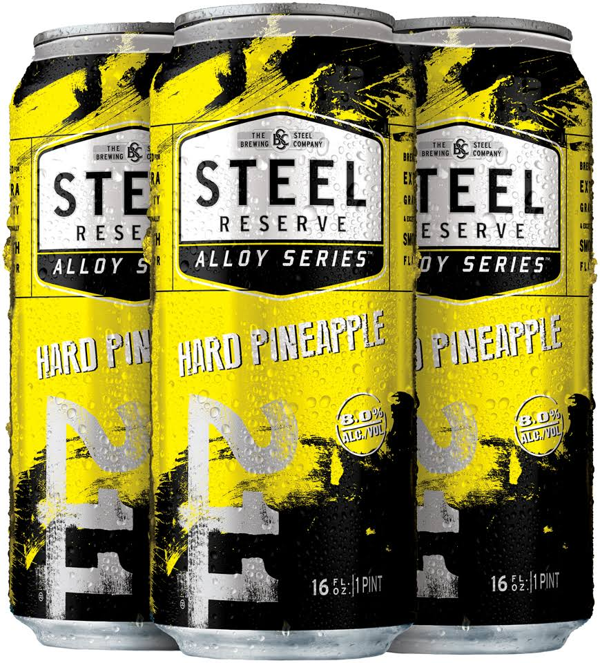 Steel Reserve Alloy Series Beer - Hard Pineapple, 4x16oz