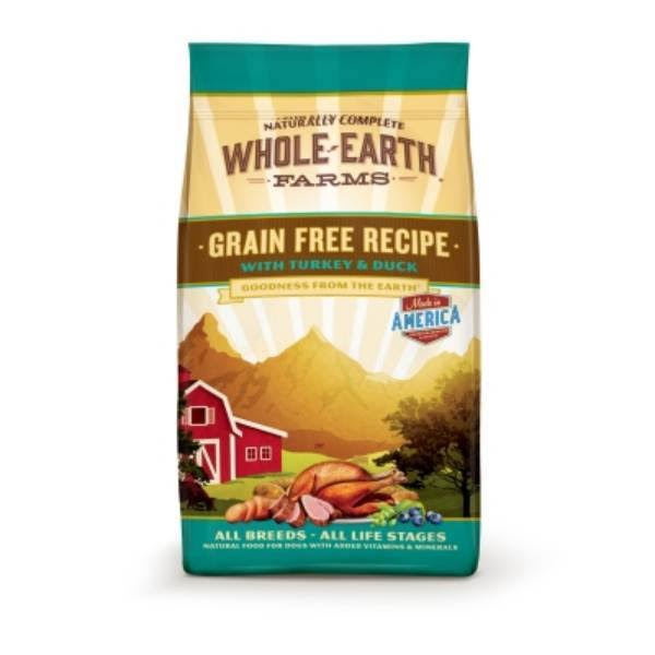 Whole Earth Farms Grain Recipe Turkey and Duck Dry Dog Food - 12lb