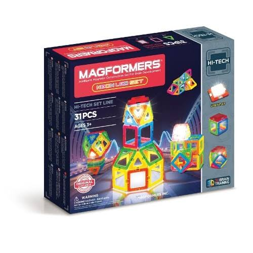 Magformers Neon LED Magnetic Toy Set - 31 Pack