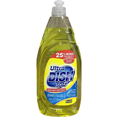 Home Select Dishwashing Detergent, Lemon Fresh - 20 fl oz bottle
