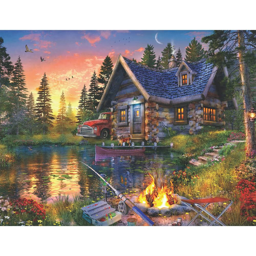 Springbok Sun Kissed Cabin 500 Piece Jigsaw Puzzle, Red
