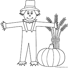 Haunted Halloween Crossword by Scarecrow With Wheat Sheaf And Pumpkin Coloring Page Halloween