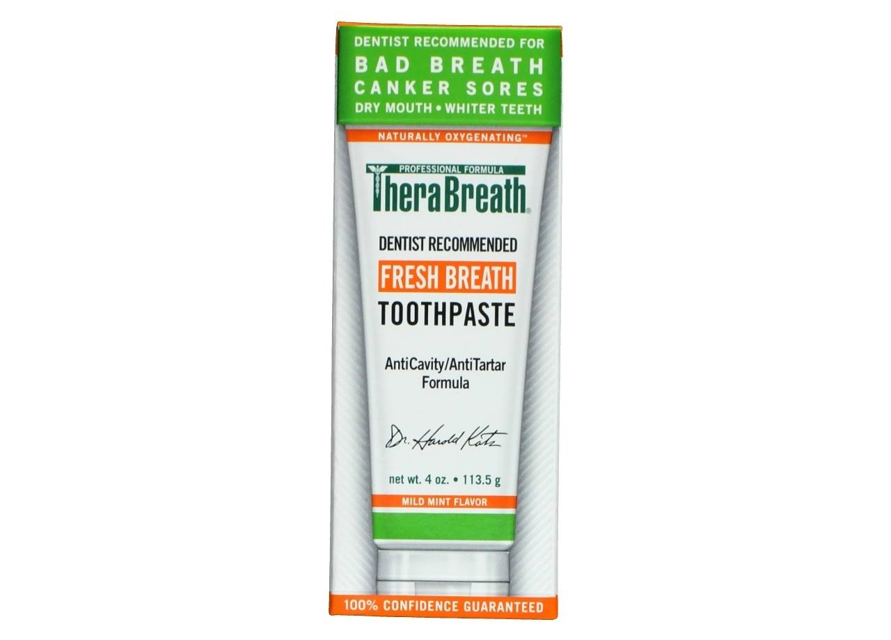 Thera Breath Fresh Breath Toothpaste - 4oz, Mild Mint