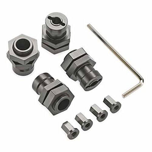 ST Racing Concepts Wraith Aluminum 17mm Hex Conversion Kit (gun Metal)