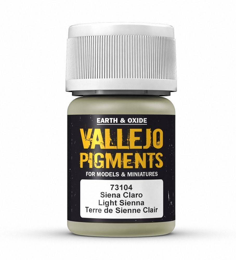 Vallejo VAL73104 Pigments - Light Sienna, 30ml