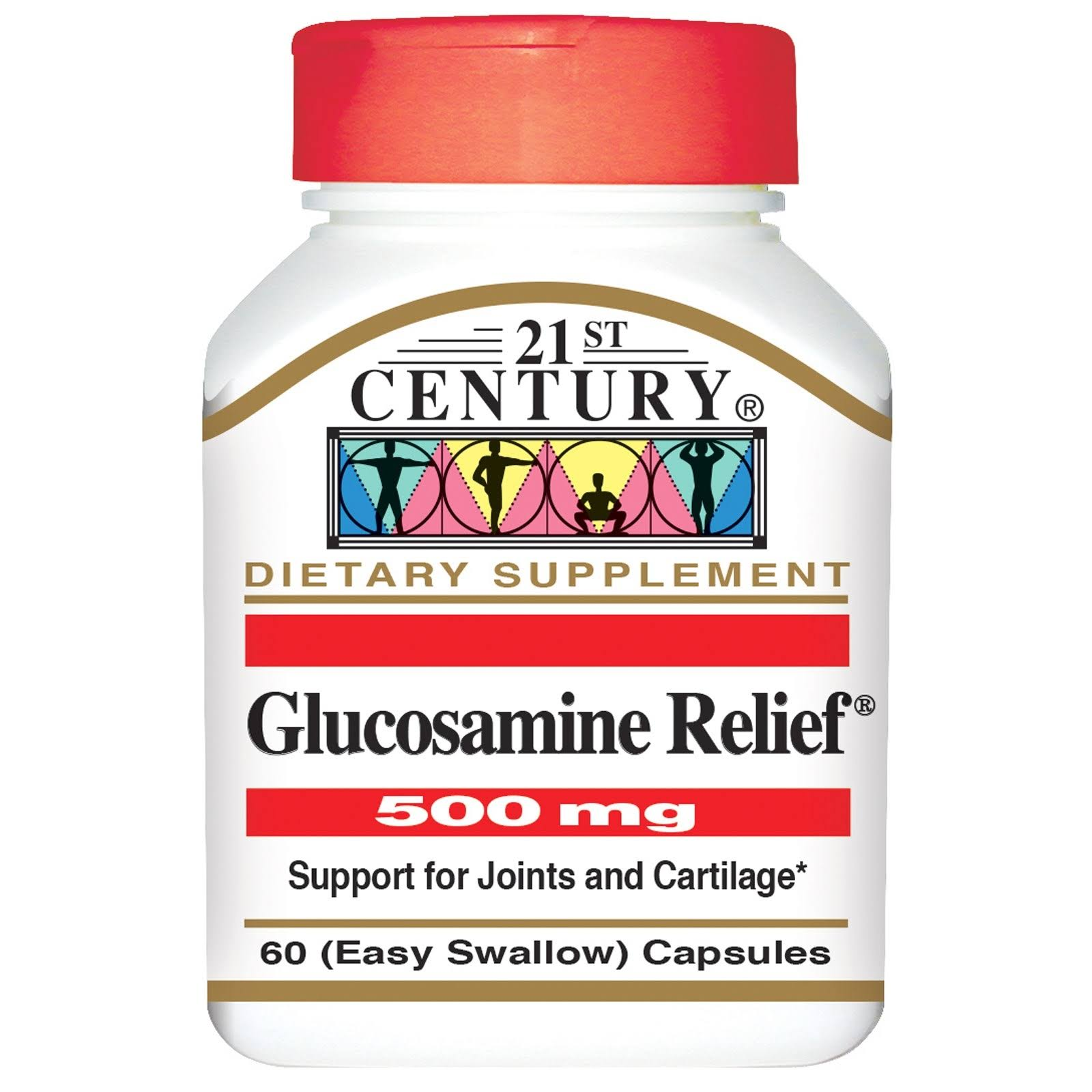 21st Century Glucosamine Relief Supplements - 500mg, 60ct