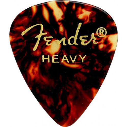 Fender Classic Heavy Guitar Picks - 12pk, Shell