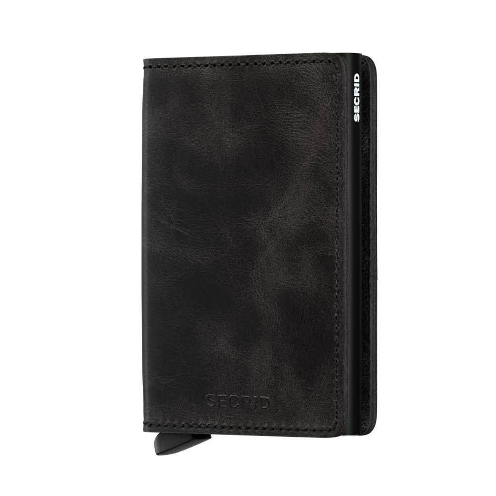 Secrid Slim Wallet Leather Vintage - Black