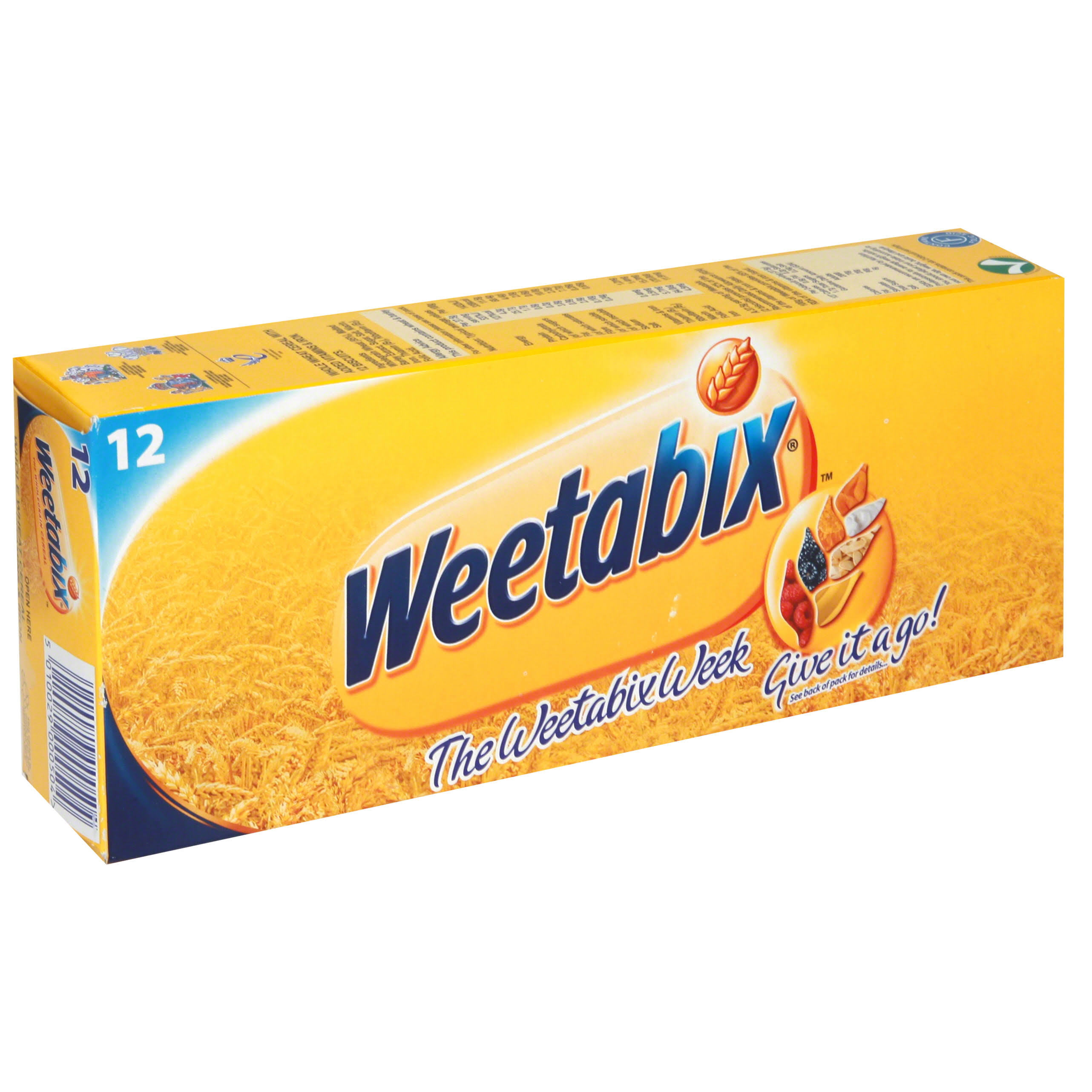 Weetabix Whole Wheat Cereal, with Added Vitamins & Iron - 12 biscuits