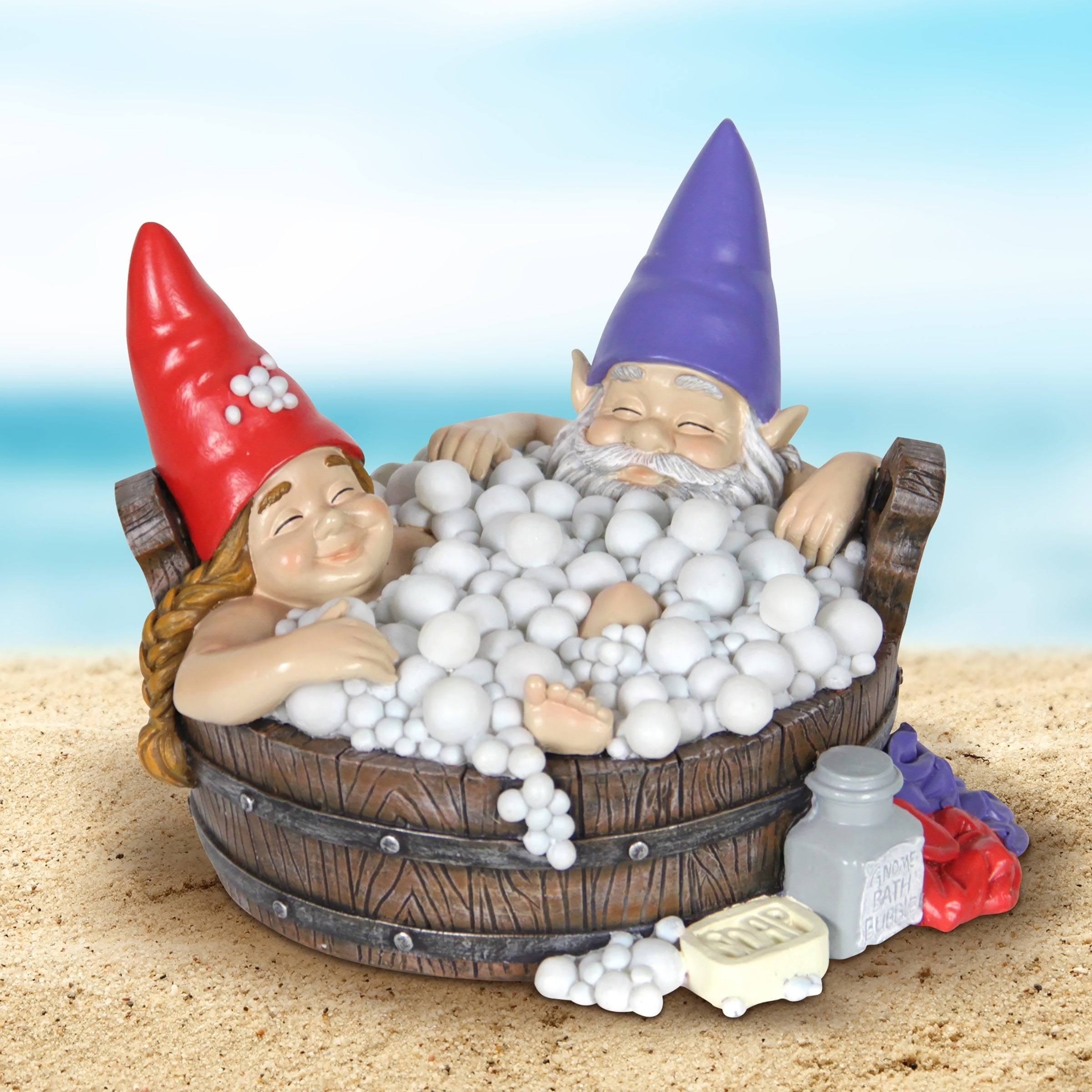 Exhart Solar Gnomes in Bubble Bath