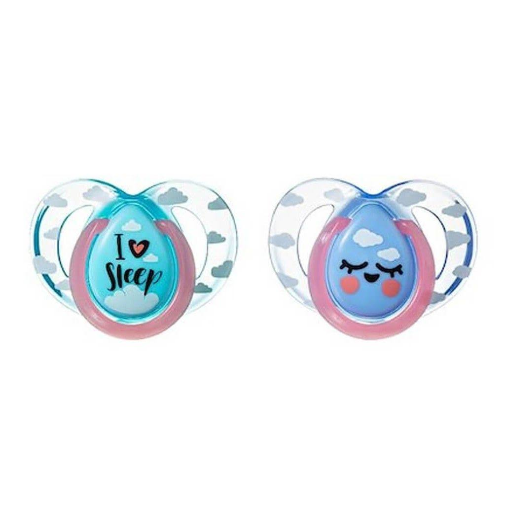 Tommee Tippee Night Time Orthodontic Soothers - 6-18 Months, 2pcs