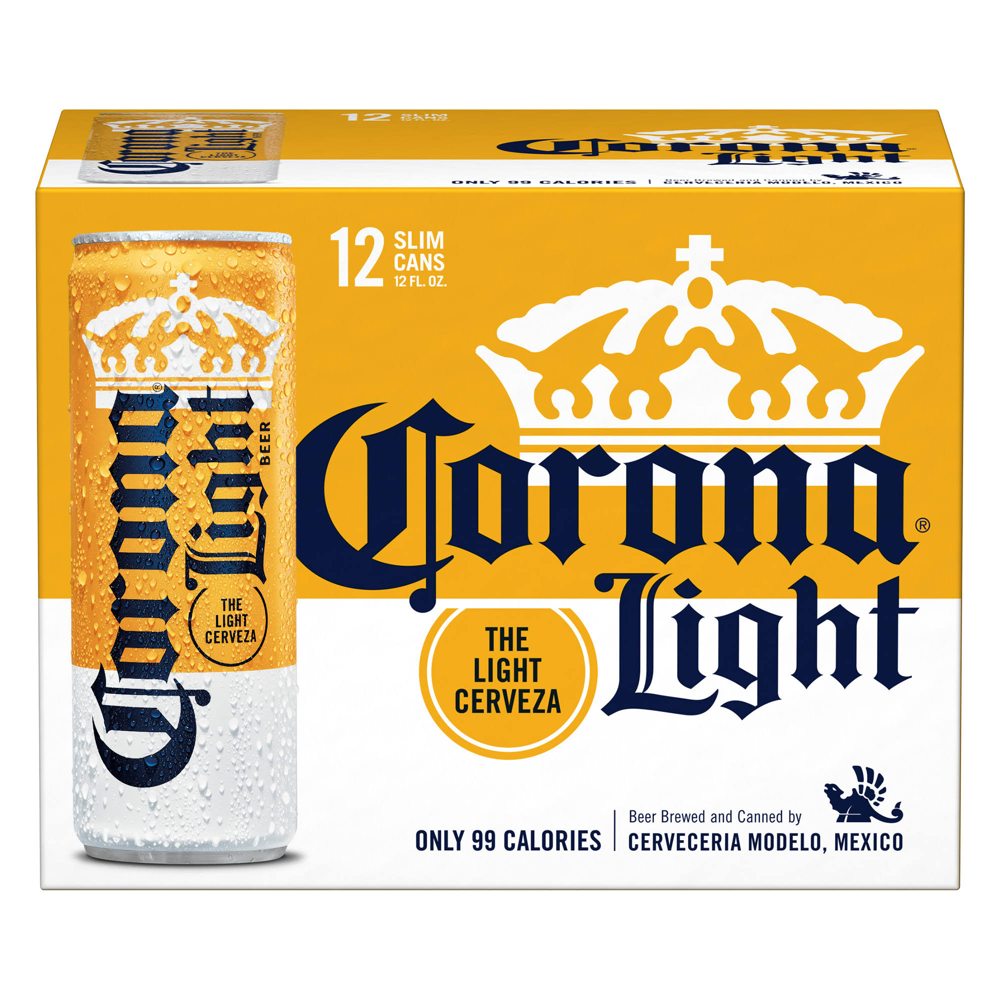 Corona Light Beer, Tall Cans - 12 pack, 12 fl oz cans