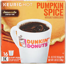 Dunkin Donuts Pumpkin Donut Ingredients by Dunkin Donuts Pumpkin Spice Flavor K Cups For Keurig Coffee